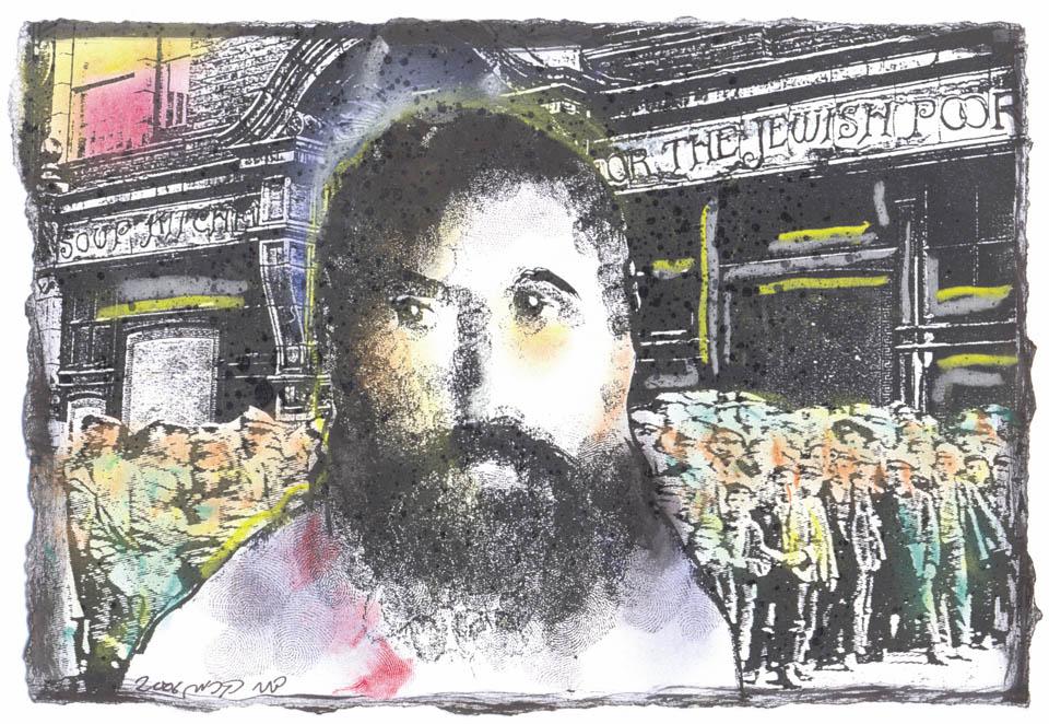Йосеф Хаим Бреннер. Портрет работы Дани Кермана