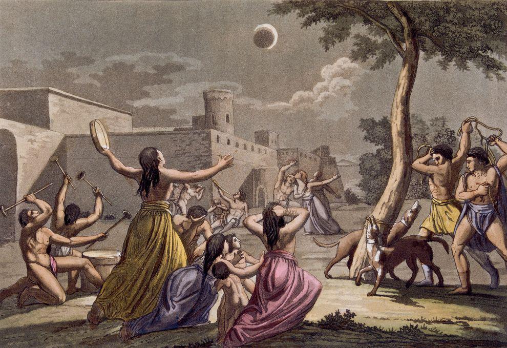 В какие мифы, связанные с солнечным затмением, верили наши предки?