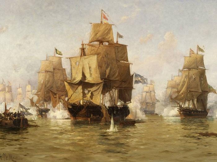 Морской бой. Эдуардо де Мартино.